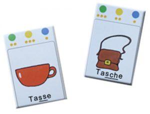 Sprachtherapie Tasse-Tasche